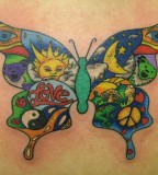 Beautiful Pictures on Butterfly Canvas Tattoo Design For Women