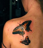 Cool Back Butterfly Tattoos