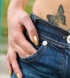 Cute Butterfly Tattoos On Hip