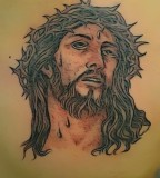 Jesus Amazing Face Tattoo Design