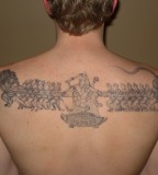 Cambodian Back Tattoo Design