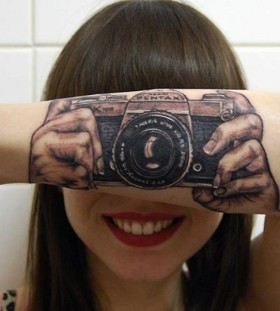 camera tattoos for women