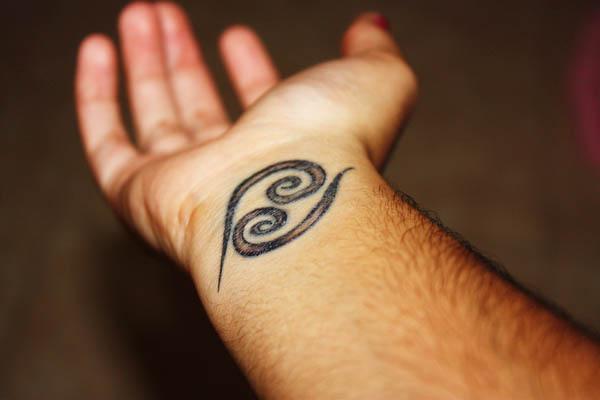 Cancer Zodiac Wrist Tattoo Ink Art Tattoos