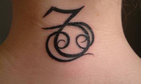 Capricorn Amp Cancer Zodiac Signs Tattoo