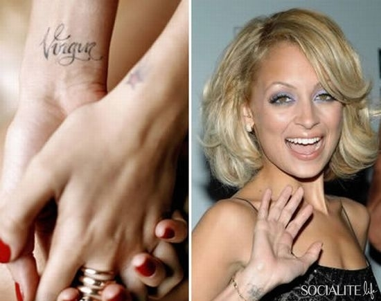 Nicole Richie Celebrities with Awesome Wrist Tattoos Design