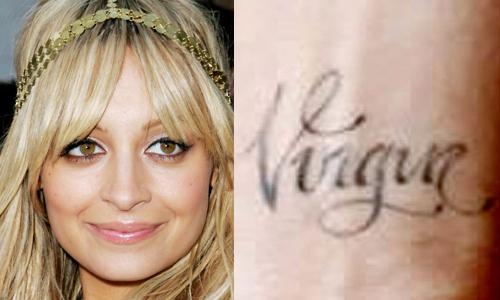 Stupidest Celebrity Tattoos by Nichole Richie