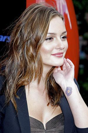 Celebrities Wrist Tattoos by Leighton Meester