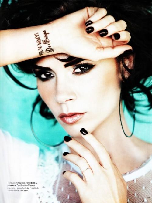 Hot Celebrity Wrist Tattoos by Victoria Beckham