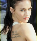 Megan Fox Celebrities with Wrist Tattoo Design
