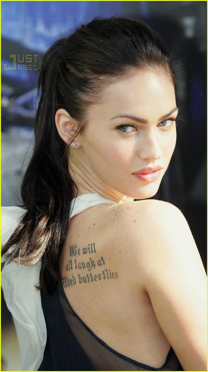 Megan Fox Celebrities with Wrist Tattoo Design