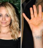 Elegant Wrist Celebrities Tattoos by Nicole Richie