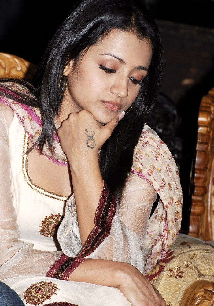 Sexy Trisha Indian Celebrities with Chic Wrist Hand Tattoos