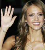 Fascinating Wrist Tattoos by Jessica Alba Hollywood Celebrities