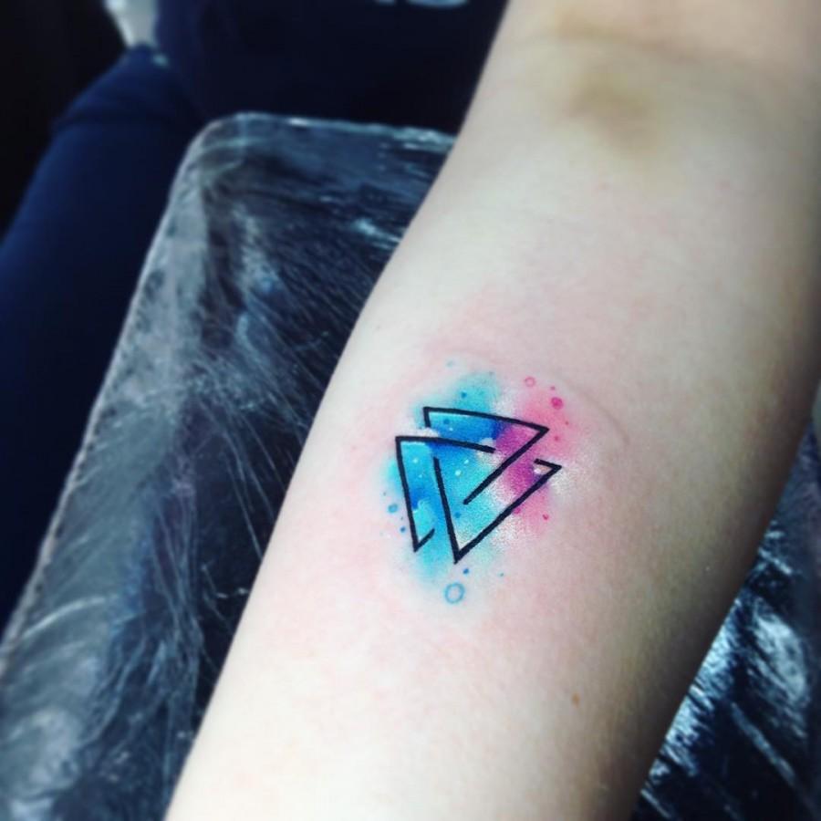 celestial-triangle-watercolor-tattoo