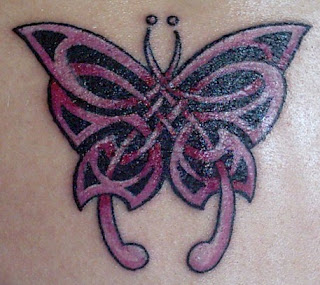 Celtic Butterfly with Full Color Tattoo