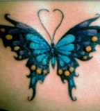 Celtic Blue Butterfly Tattoo Design