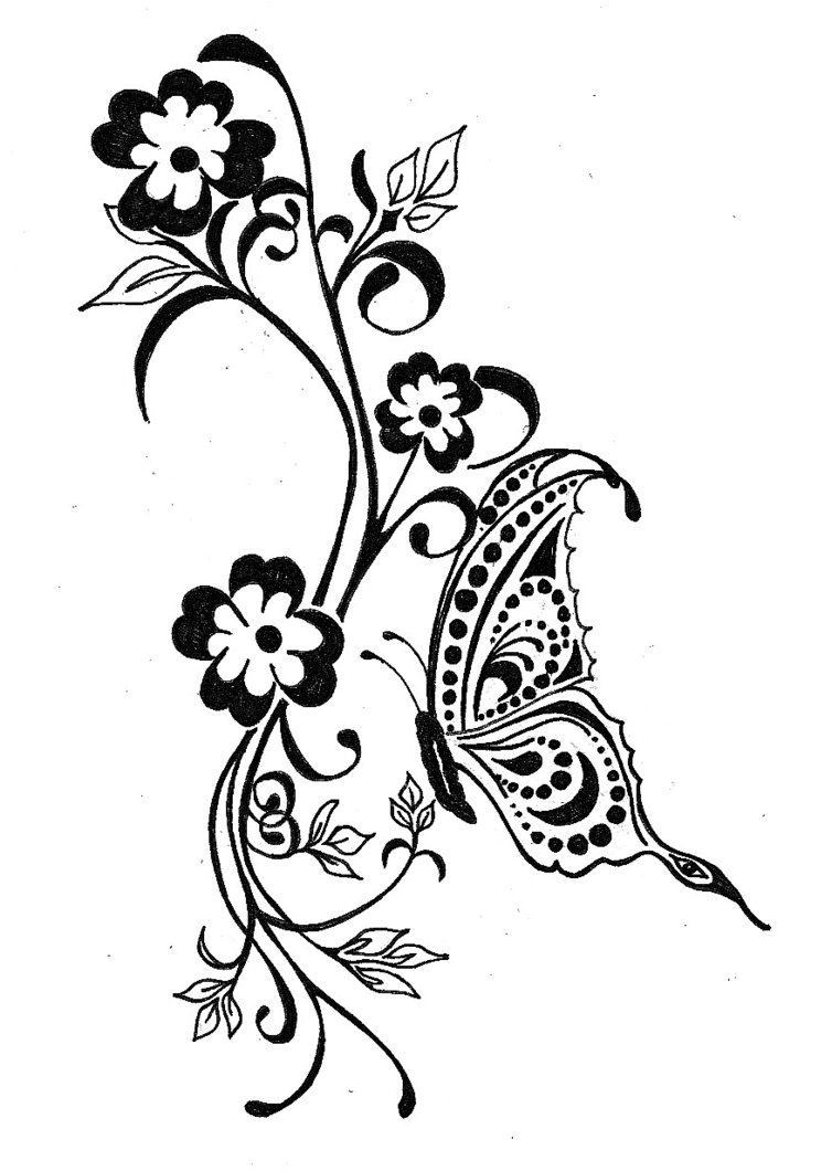 Celtic Butterfly Tattoo Designs For Ladies