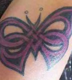 Simple and Beautiful Celtic Butterfly Tattoo