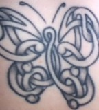 Celtic Butterfly Tattoo Body Art
