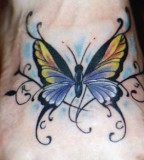 Celtic Butterfly Tattoos with Colorful Ink