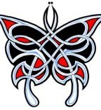 Celtic Tattoo Design Butterfly Tattoo