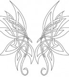 Dashing Celtic Butterfly Tattoo Sketch