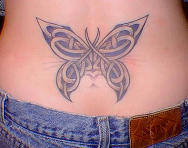 Butterfly Celtic Tattoo Design on Hip