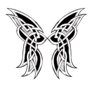 Celtic Tattoo Butterfly Tattoo Sketch design