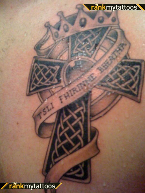 Celtic Cross Irish Lettering Celtic Cross Tattoo