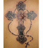 Elegant Cross Tattoos For Women