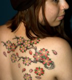 Cherry Blossom Tattoos For A Feminine Look