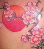 Fancy Japanese Cherry Blossom Tattoo Designs
