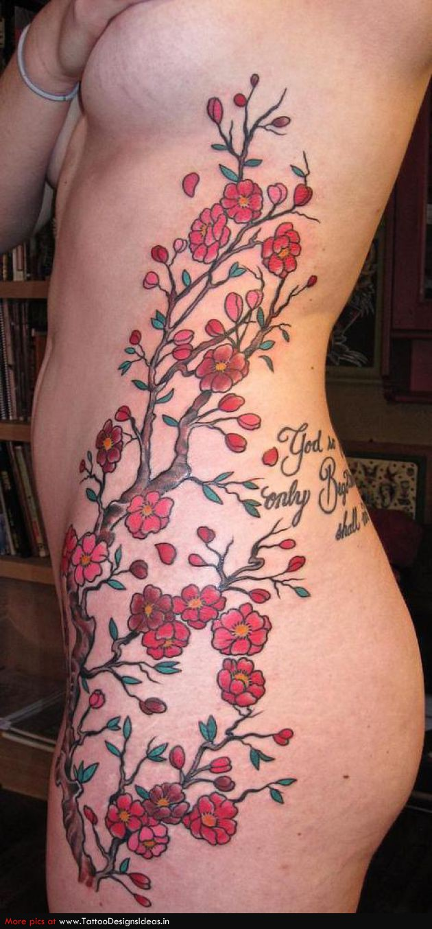 Forearm Cherry Blossom Tattoo Designs