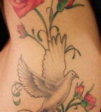Rose and Pigeon Tattoo Design - Meaning Tattoo