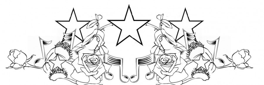 Symmetrical Stars and Flowers Chest Piece Tattoo By Theonlytime (Deviantart)