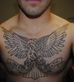Eagle Chest Piece Tattoo Design Ideas for Men