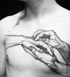 chest-tattoo-by-loiseau