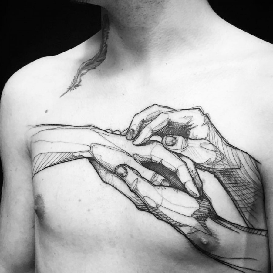 chest-tattoo-by-loiseau