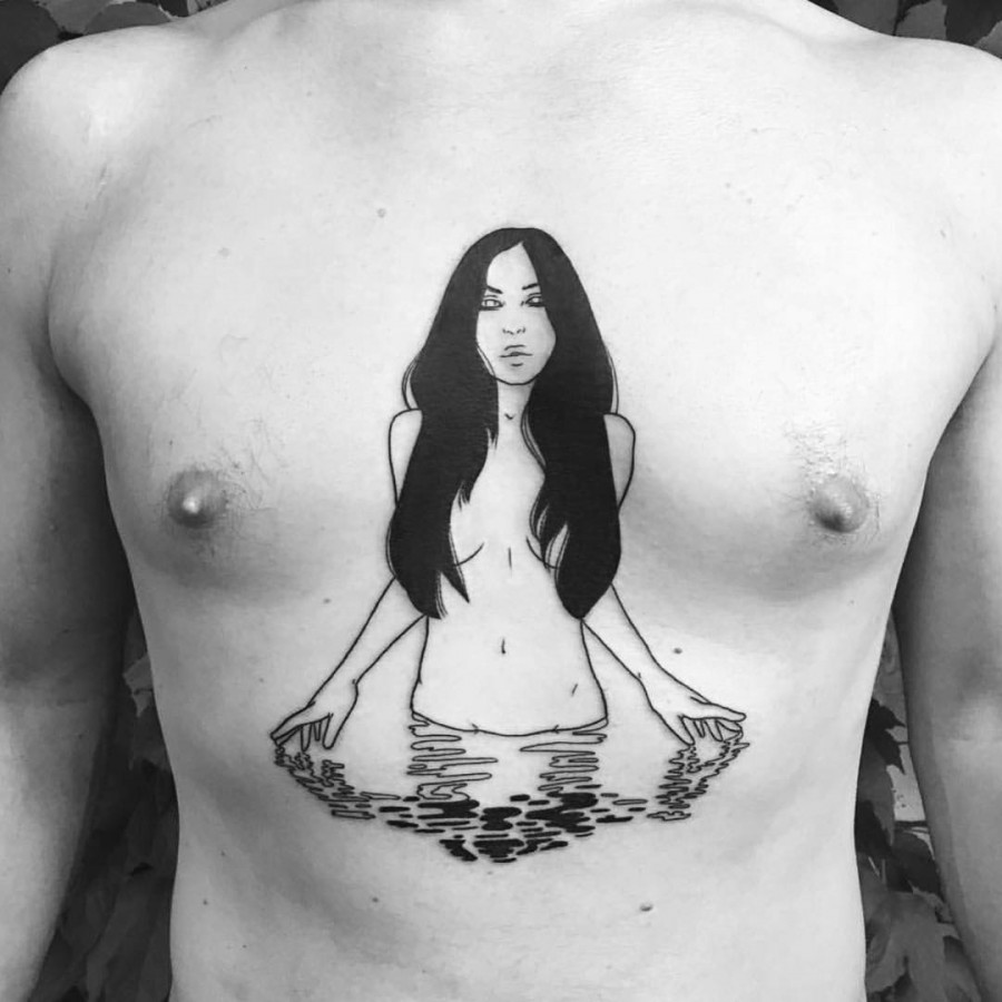 chest-tattoo-by-silly-jane