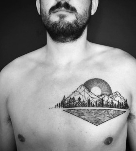 chest-tattoo-by-sylvie-le-sylvie
