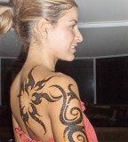 Shoulder Tribal Tattoo Designs for Women