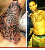 Chris Brown Wolf Neck Tattoo