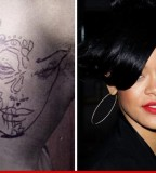 Chris Browns New Tattoo Rihanna's Face - Celebrity Tattoos