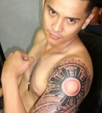 Best Quarter Polynesian Sleeve Tattoo Photos