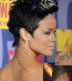 Chris Brown's Rihanna Back Tattoos Design - Celebrity Tattoos