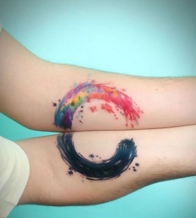 circle couples tattoos