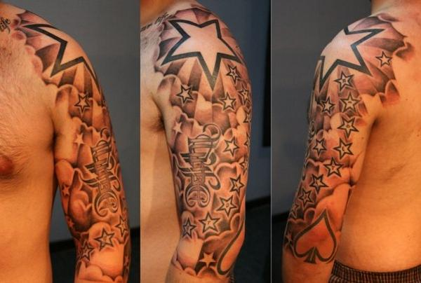 Freestyle Stars Clouds Tattoo Design Uptown for Men
