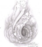 Masterpieces Art Clouds Tattoo Design