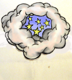 Tattoo Clouds And Stars Design