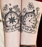 Compass / Watch Tattoo Design - Match Tattoo